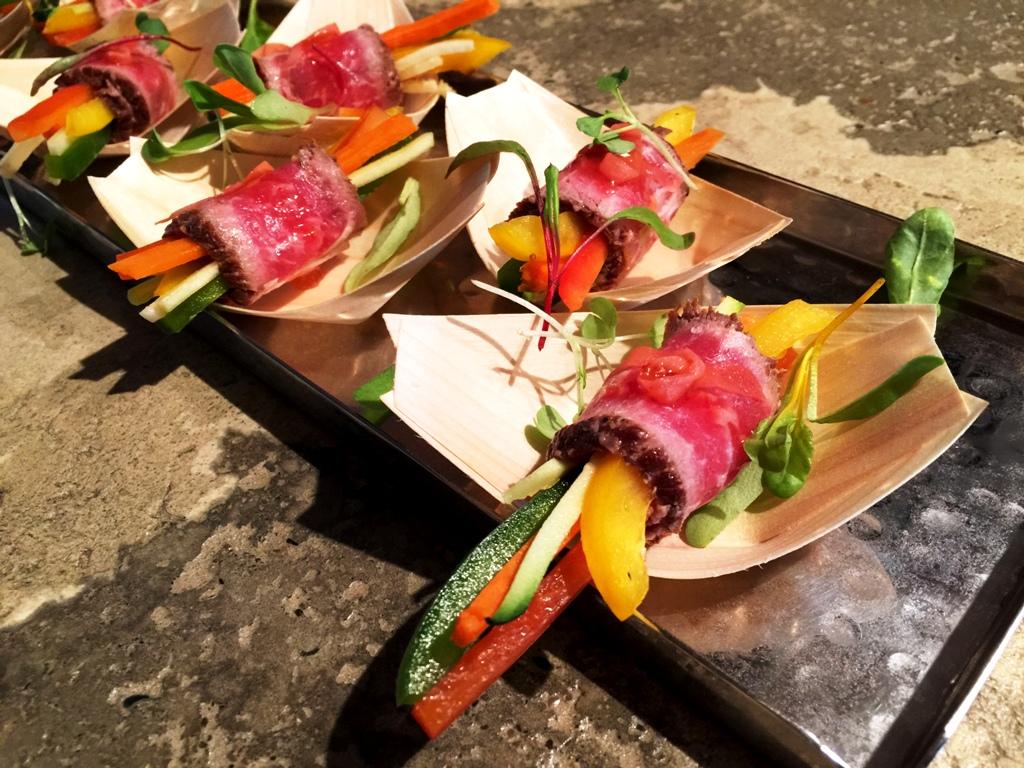 Backyard Wedding - Beef Negamaki
