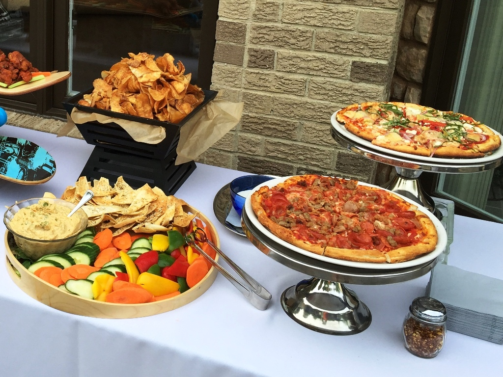 Graduation Party - Hummus, Pizzas and Chips